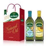 Olitalia奧利塔玄米油+葵花油禮盒組1000mlx2