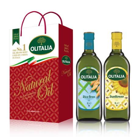Olitalia奧利塔玄米油+葵花油禮盒組(1000mlx2)