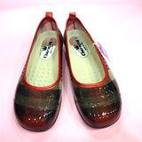 日本新格紋娃娃雨鞋-紅