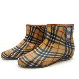 日本新格紋半統雨鞋