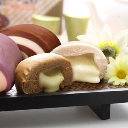 【宜蘭義珍香】爆漿饅頭12入(3盒)鮮奶*8+巧克力*4