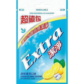 Extra潔淨無糖口香糖超值包-清檸薄荷