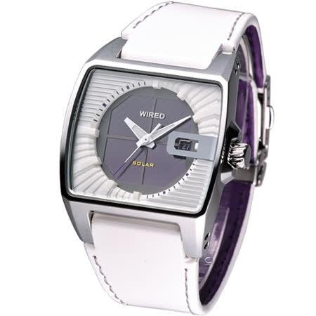 ALBA WIRED HYBRID 原創潮流 時尚科技太陽能腕錶V145-X013Z/AUA007X