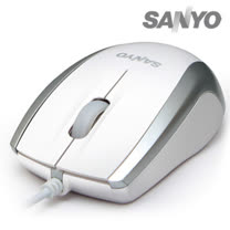 SANYO三洋 SYMS-M8 USB光學環保滑鼠(時尚白)