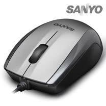 SANYO三洋 SYMS-M8 USB光學環保滑鼠(鋼鐵灰)