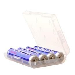 3號 電池 四入裝收納盒/白透明色 (10個)