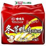 味味A冬菜鴨肉湯冬粉袋麵60g*4包