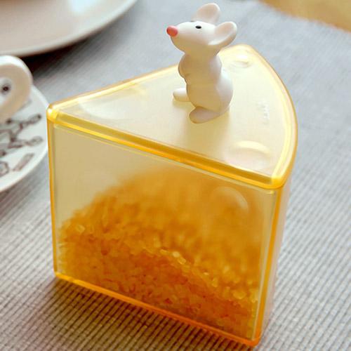 【老鼠與起士】調味料罐  (半透黃)
