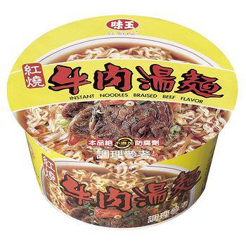 味王紅燒牛肉麵碗85g*3組