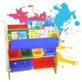 寶貝家-兒童書報玩具收納架 (2大桶+4中桶)【台灣生產】