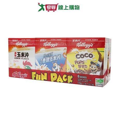 家樂氏組合包6小盒總重170g/組