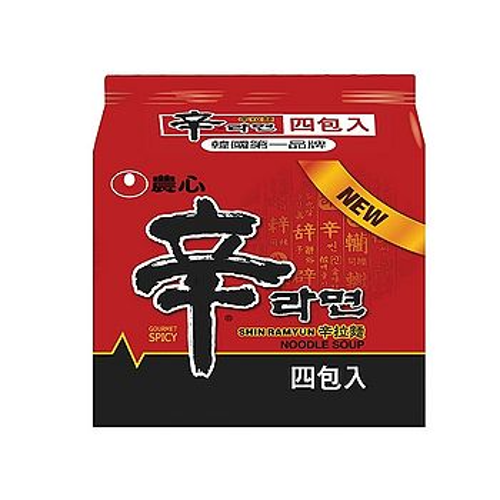 韓國農心辛拉麵*4包