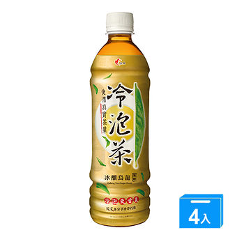 光泉冷泡茶-冰釀烏龍(無糖)585ml*4入