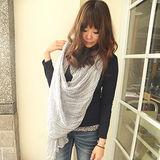 【Lus.G】輕薄秋韓系小船錨微皺折款圍巾
