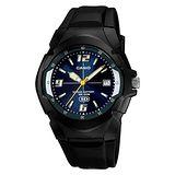 CASIO 休閒個性運動膠帶錶(藍)