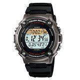 CASIO 太陽能勇者運動電子錶(膠帶/銀灰框)