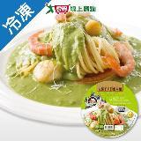 金品青醬干貝鮮蝦焗麵360G/盒