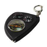 地圖測距儀指南針 溫度計 鑰匙圈