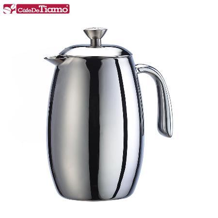 Tiamo 哥倫比亞雙層不鏽鋼濾壓壺-800ml (6杯份) HA1536