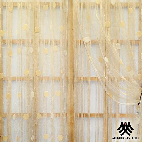 ~M.B.H~仙縷旬園~穿掛雙層紗線簾^(金^)^(180^~230cm^)