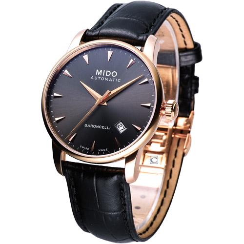 MIDO Baroncelli 自動機械腕錶 玫瑰金色M86003134