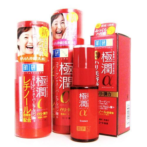 ROHTO肌研 極潤 α  (化妝水+乳液+精華液) 清爽全系列