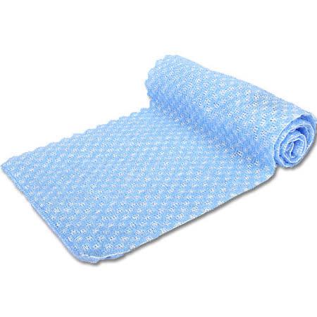 【竹炭日用品任選】竹炭雙面毛刷沐浴巾(CP965-4 藍)