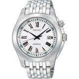 SEIKO 羅馬都會人動電能鋼帶腕錶(5M62-0CL0S)-銀