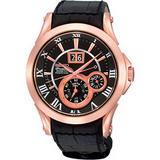 SEIKO PREMIER 人動電能萬年曆腕錶(7D56-0AA0K)-玫塊金