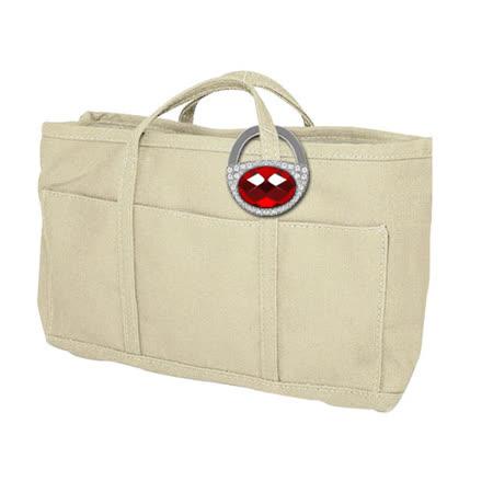 《漂亮袋》仕女包包手提收納袋+閃耀鎖頭式包包掛勾