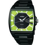 WIRED Solar日雜時尚腕錶(V145-X014M)-綠