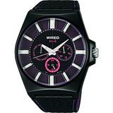 WIRED 普普風復刻太陽能腕錶(V14J-X005T)-紫