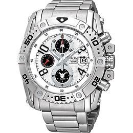 ALBA 天際浩劫三環計時腕錶(YM62-X220S)-銀