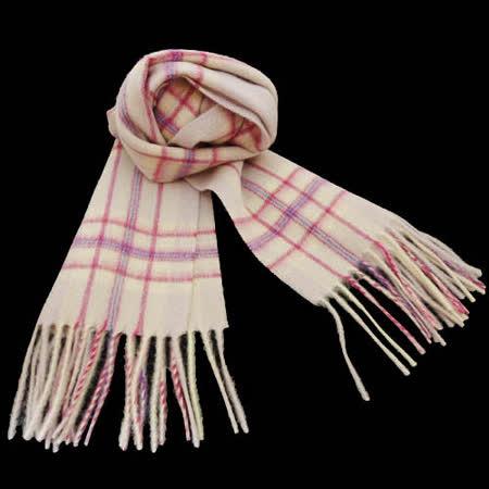 日本格紋圍巾-粉色