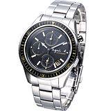 agnes b. 個性時尚鬧鈴計時腕錶
