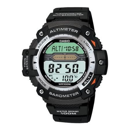 CASIO 巔峰戰士雙感測量運動錶(膠帶款)
