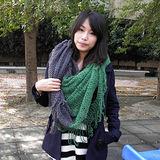 【Lus.G】韓系糖果甜心款厚質保暖雙色多功能圍脖款共3色-灰&綠AMT-35