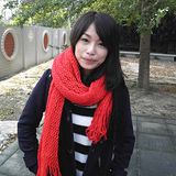 【Lus.G】韓系糖果甜心款厚質保暖雙色多功能圍脖款共3色-黑&紅AMT-36