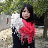 【Lus.G】韓系糖果甜心款厚質保暖雙色多功能圍脖款共3色-桃&米白AMT-37