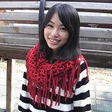 【Lus.G】韓風暖色系針織網格泂脖圍款共4色-深紅AMT-47
