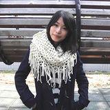 【Lus.G】韓風暖色系針織網格泂脖圍款共4色-米色AMT-49