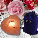 【Naluxe】義大利設計-永恆之心玫瑰鹽燭台1入