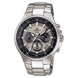 CASIO EDIFICE 碳纖魅力品味三眼賽車錶(灰)