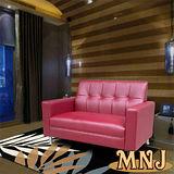 MNJ-簡單生活獨立筒沙發-2人座(紅)