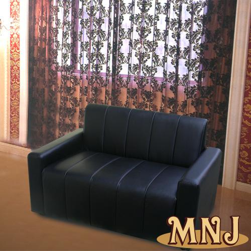 MNJ-可愛家庭沙發2人(黑)