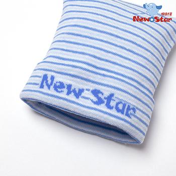 【聖哥-Newstar】MIT嬰兒保暖實用彈性帽-親膚精緻-柔軟彈性~0~6個月寶寶-媽咪推薦-條紋-藍-粉
