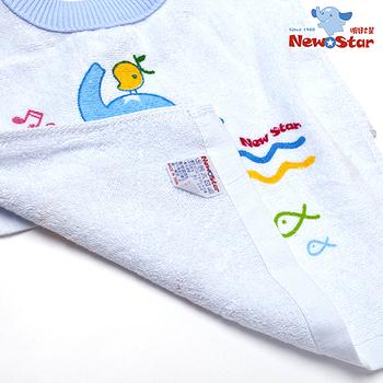 【聖哥Newstar】MIT超好用親膚嬰幼兒套頭毛巾圍兜(100%純棉)媽咪推薦-藍-粉-柔軟親膚-0~5歲