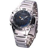 CASIO 多功能戶外專業不鏽鋼雙顯錶