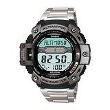 CASIO 巔峰戰士雙感測量運動錶(鋼帶款)