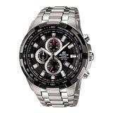 CASIO EDIFICE勁速戰將計時賽車錶(黑)